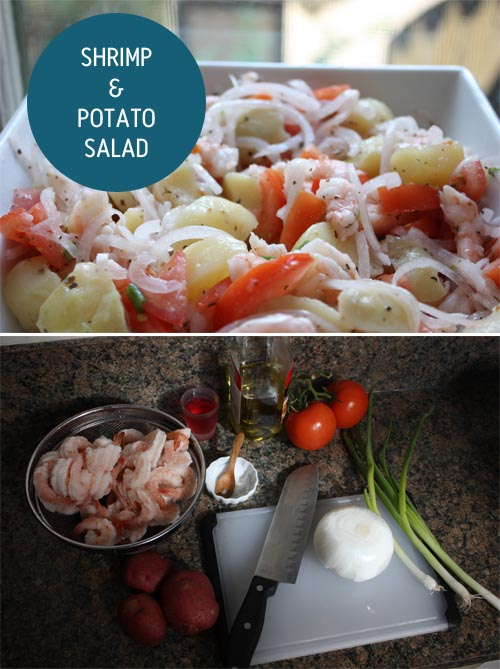RECIPE ADVENTURES | shrimp and potato salad | PINEGATE ROAD
